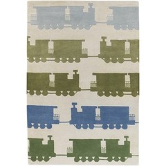 Buy Chandra Rugs Kids Hand-Tufted Contemporary Green Rug - KID7625 on sale online