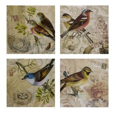 Buy IMAX Worldwide Kincaid Bird Canvas (Set of 4) on sale online
