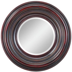 Buy Cooper Classics Koch 28 Inch Round Mirror in Aged Black on sale online