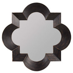 Buy Cooper Classics Kristen 47 Inch Square Mirror in Black on sale online