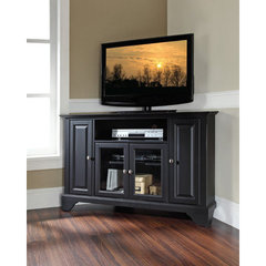 Buy Crosley Furniture LaFayette 48 Inch Corner TV Stand in Black on sale online