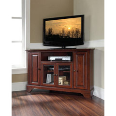 Buy Crosley Furniture LaFayette 48x18 Corner TV Stand in Vintage Mahogany on sale online