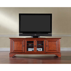 Buy Crosley Furniture LaFayette 60x18 Low Profile TV Stand in Classic Cherry on sale online