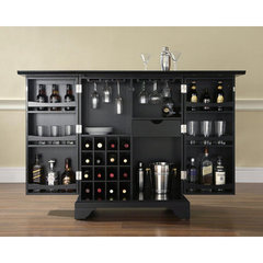 Buy Crosley Furniture LaFayette Expandable Bar Cabinet in Black on sale online
