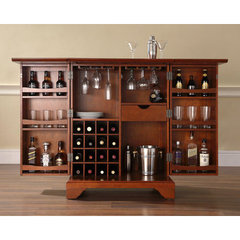 Buy Crosley Furniture LaFayette Expandable Bar Cabinet in Classic Cherry on sale online