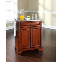Buy Crosley Furniture LaFayette 28x18 Stainless Steel Top Portable Kitchen Island in Classic Cherry on sale online