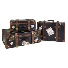Buy IMAX Worldwide Labeled Suitcases (Set of 3) on sale online