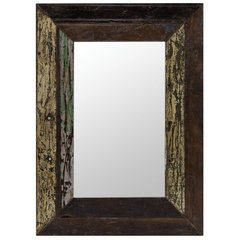 Buy Cooper Classics Langley 36x26 Mirror in Rustic Wood on sale online