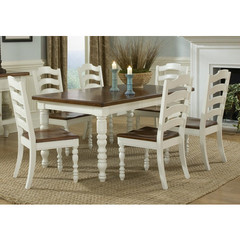 Buy Legacy Classic Furniture Concord White 7 Piece 54x38 Leg Table Dining Room Set on sale online