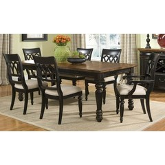Buy Legacy Classic Furniture Cottage Hill 7 Piece 66x40 Leg Table Dining Room Set w/ 2 Arm Chairs on sale online