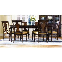 Buy Legacy Classic Furniture Davenport 7 Piece 60x44 Leg Table Dining Room Set w/ 2 Arm Chairs on sale online