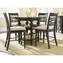 Buy Legacy Classic Furniture Glen Cove Espresso 5 Piece 48 Inch Round Pub Table Set on sale online