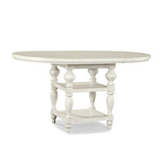 Buy Legacy Classic Furniture Glen Cove White 48 Inch Round to Oval Pub Table w/ 20 Inch Leaf on sale online