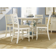 Buy Legacy Classic Furniture Glen Cove White 5 Piece 48 Inch Round Pub Table Set on sale online