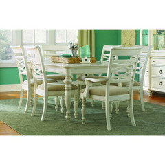 Buy Legacy Classic Furniture Glen Cove White 7 Piece 60x44 Leg Table Dining Room Set w/ 2 Arm Chairs on sale online