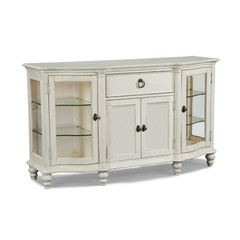 Buy Legacy Classic Furniture Glen Cove White Credenza w/ 2 Puck Lights and Touch Dimmer on sale online