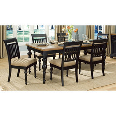 Buy Legacy Classic Furniture Highland Hills 7 Piece 60x40 Leg Table Dining Room Set on sale online