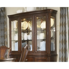 Buy Legacy Classic Furniture American Traditions China Hutch w/ 3 Glass Doors and Mirrored Back on sale online