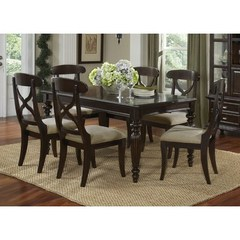 Buy Legacy Classic Furniture Austin Place 7 Piece 54x38 Leg Table Dining Room Set on sale online