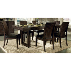 Buy Legacy Classic Furniture Portland 7 Piece 60x40 Rectangular Pedestal Table Dining Room Set on sale online