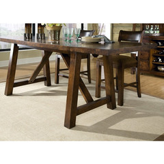 Buy Legacy Classic Furniture Woodland Ridge 78x36 Rectangular Complete Trestle Pub Table w/ Two 13 Inch Leaves on sale online