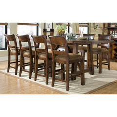 Buy Legacy Classic Furniture Woodland Ridge 9 Piece 78x36 Pub Table Set on sale online