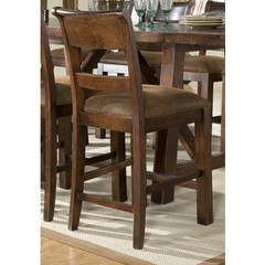 Buy Legacy Classic Furniture Woodland Ridge Ladder Back Pub Chair w/ Upholstered Seat on sale online
