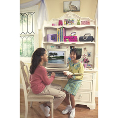 Buy Legacy Classic Kids Reflections Computer Desk Hutch w/ 2 Fixed Shelves and Cork Board on sale online