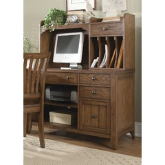 Buy Liberty Furniture Hearthstone 2 Piece Computer Credenza w/ Hutch on sale online