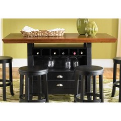 Buy Liberty Furniture 47 Pub 60x36 Rectangular Center Island Table in Black and Cherry on sale online