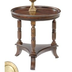Buy Liberty Furniture 495 Occasional 26 Inch Round Lamp Table in Cherry, Medium Wood on sale online