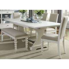 Buy Liberty Furniture Harbor View II 6 Piece 94x42 Rectangular Dining Room Set in White on sale online