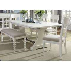 Buy Liberty Furniture Harbor View II 6 Piece 94x42 Rectangular Trestle Dining Room Set on sale online