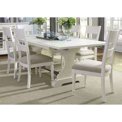 Buy Liberty Furniture Harbor View II 7 Piece 94x42 Rectangular Dining Room Set in White on sale online
