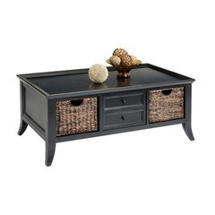 Buy Liberty Furniture 915 Occasional 47x27 Rectangular Cocktail Table in Black, Dark Wood on sale online