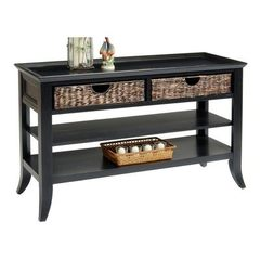 Buy Liberty Furniture 915 Occasional 48x18 Rectangular Sofa Table in Black, Dark Wood on sale online