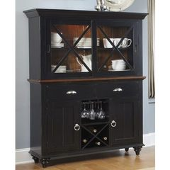 Buy Liberty Furniture Abbey Court Traditional Buffet w/ Hutch in Black, Cherry on sale online