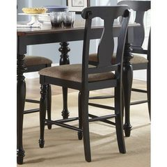 Buy Liberty Furniture Abbey Court Traditional Counter Height Chair w/ Splat Back in Black, Sand on sale online