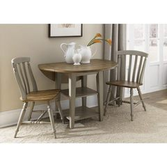 Buy Liberty Furniture Al Fresco 3 Piece 42x42 Round Dining Room Set in Light Wood, Antique on sale online