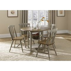 Buy Liberty Furniture Al Fresco 5 Piece 42x42 Round Dining Room Set in Light Wood, Antique on sale online