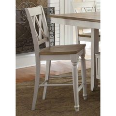 Buy Liberty Furniture Al Fresco III Double X Back 24 Inch Counter Height Stool in Driftwood and Sand on sale online