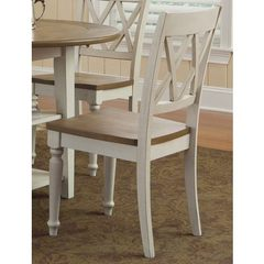 Buy Liberty Furniture Al Fresco III Double X Back Side Chair in Driftwood and Sand on sale online