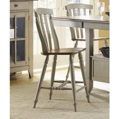 Buy Liberty Furniture Al Fresco Transitional Counter Height Stool w/ Slat Back in Light Wood, Antique on sale online