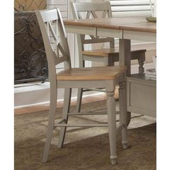 Buy Liberty Furniture Al Fresco Transitional Counter Height Stool w/ X-Back in Light Wood, Antique on sale online