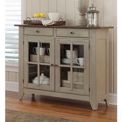 Buy Liberty Furniture Al Fresco Transitional Rectangular 50x18 Server in Light Wood, Antique on sale online