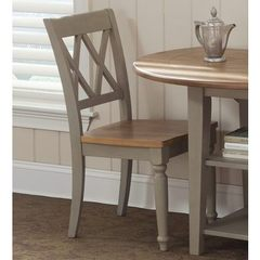Buy Liberty Furniture Al Fresco Transitional Side Chair w/ X-Back in Light Wood, Antique on sale online