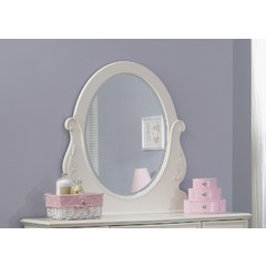 Buy Liberty Furniture Arielle 39x36 Oval Mirror in Antique White on sale online