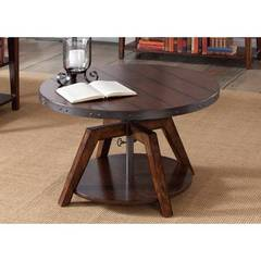 Buy Liberty Furniture Aspen Skies 34x34 Round Motion Cocktail Table on sale online