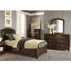 Buy Liberty Furniture Avalon 2 Piece Lids Leather Bedroom Set on sale online
