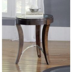 Buy Liberty Furniture Avalon 20x20 Round Chairside Table in Dark Wood on sale online